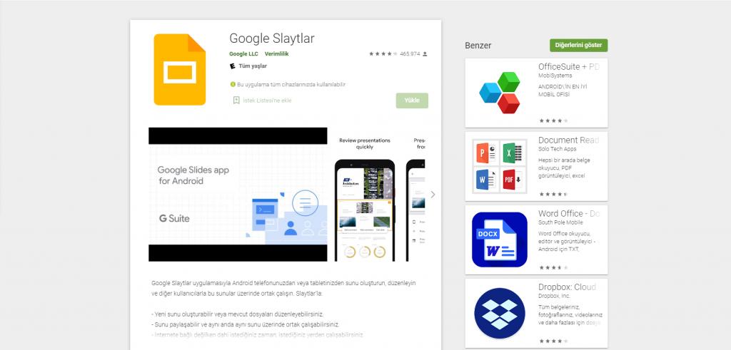 Google Slaytlar Kullanarak Telefondan Slayt Nasıl Yapılır?