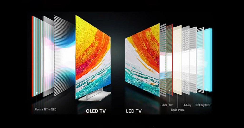 OLED ve QLED TV panelleri